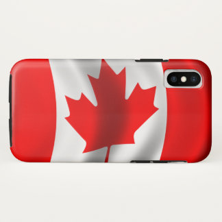 Coque iPhone X Drapeau canadien de ondulation