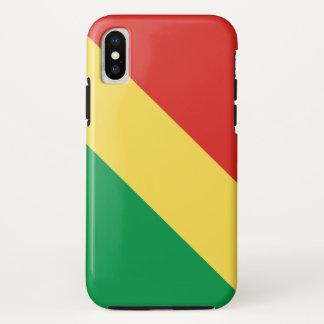 Coque iPhone X Drapeau de Congo-Brazzaville