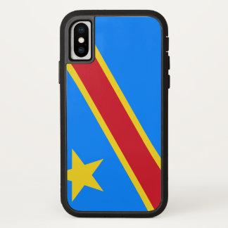 Coque iPhone X Drapeau de Congo-Kinshasa