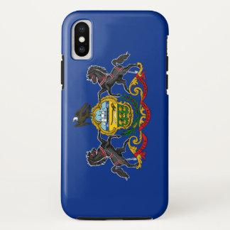 Coque iPhone X Drapeau de la Pennsylvanie
