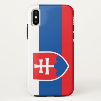 Coque iPhone X Drapeau de la Slovaquie