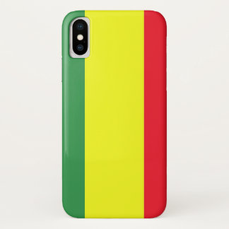 Coque iPhone X Drapeau de Rasta