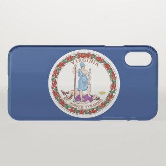 Coque iPhone X Drapeau d'état de la Virginie