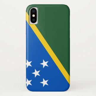 Coque iPhone X Drapeau d'îles Salomon