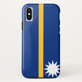 Coque iPhone X Drapeau du Nauru