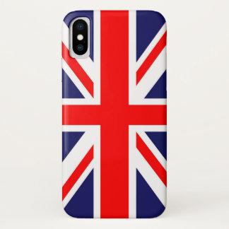 Coque iPhone X Drapeau d'Union Jack