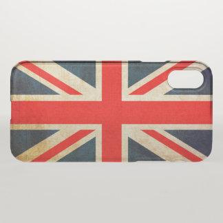 Coque iPhone X Drapeau d'Union Jack dans la grunge