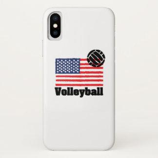 Coque iPhone X Drapeau Etats-Unis - femmes de volleyball d'hommes