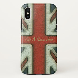 Coque iPhone X Drapeau vintage des Anglais de style