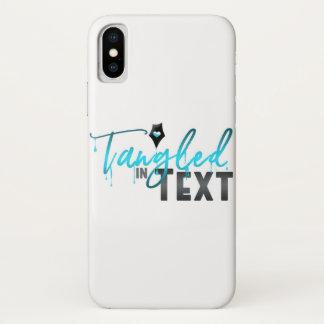 Coque iPhone X Embrouillé en texte