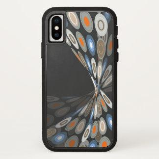 Coque iPhone X Enveloppe artistique de papillon abstrait moderne