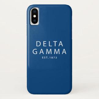 Coque iPhone X Est du gamma   de delta. 1873