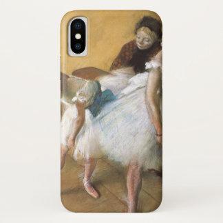 Coque iPhone X Examen de danse par Edgar Degas, ballet vintage