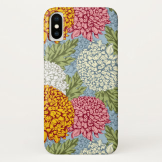 Coque iPhone X Excellent motif avec des chrysanthèmes