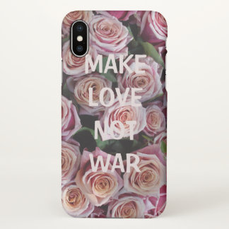 Coque iPhone X FAITES le phonecase d'Iphone X de GUERRE d'AMOUR