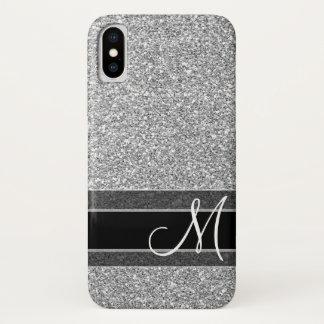 Coque iPhone X Faux motif de parties scintillantes avec le