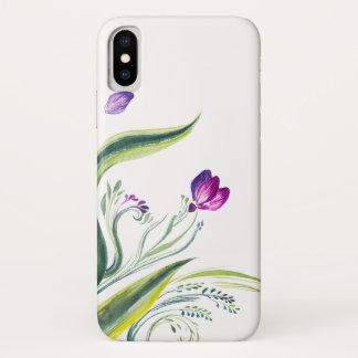 Coque iPhone X Feuille et fleurs tropicaux pour votre téléphone
