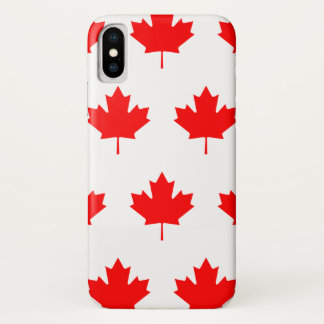 Coque iPhone X Feuille rouge