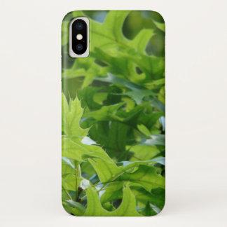 Coque iPhone X Feuille vert de chêne