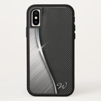 Coque iPhone X Fibre et métal balayé 4 de carbone