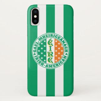 Coque iPhone X Fierté américaine irlandaise - drapeau d'Éire avec