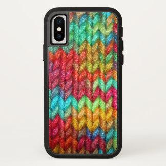 Coque iPhone X Fil coloré de tricoteuses