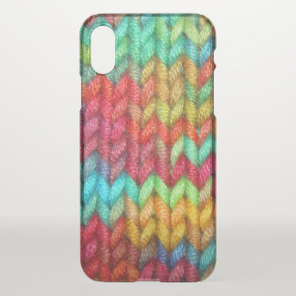 Coque iPhone X Fil coloré de tricoteuses