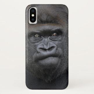 Coque iPhone X Flachlandgorilla, gorille de gorille,