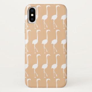 Coque iPhone X Flamant (beige)