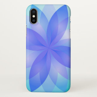 Coque iPhone X fleur de Lotus abstraite de cas de l'iPhone X