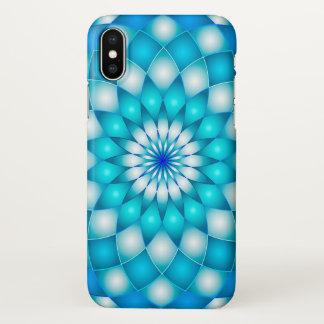 Coque iPhone X fleur de Lotus d'abrégé sur mandala de cas de