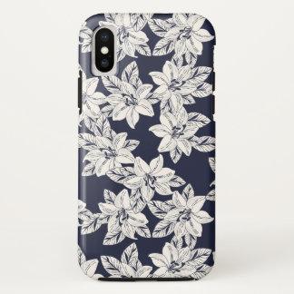 Coque iPhone X Fleur tirée par la main