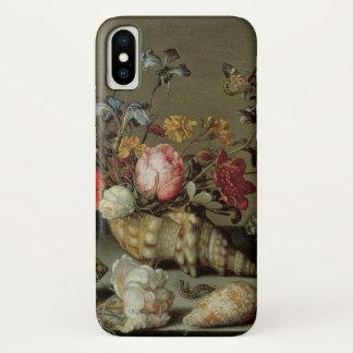 Coque iPhone X Fleurs, coquilles et Insects Balthasar van der Ast