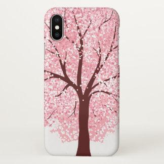 Coque iPhone X Fleurs de cerisier élégantes dans le cas de