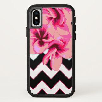 Coque iPhone X Fleurs de Chevron