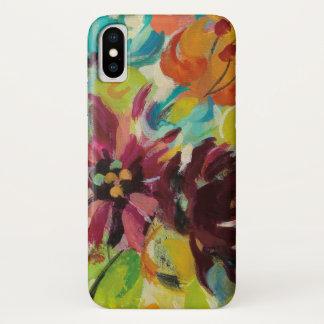 Coque iPhone X Fleurs de joie d'automne