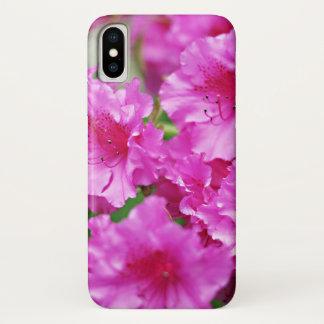 Coque iPhone X Fleurs roses de rhododendron de ressort