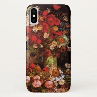Coque iPhone X Fleurs vintages de Van Gogh dans la vie florale de
