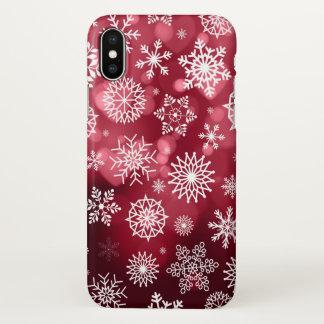 Coque iPhone X Flocons de neige sur un cas de l'iPhone X