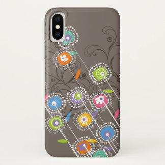 Coque iPhone X Floral coloré lunatique de jardin d'agrément super