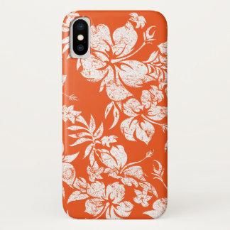 Coque iPhone X Floral hawaïen de Pareau de ketmie