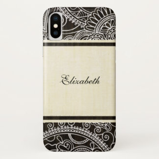Coque iPhone X Floral ornemental vintage