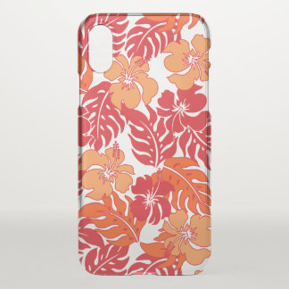 Coque iPhone X Floral vintage de ketmie hawaïenne de baie de