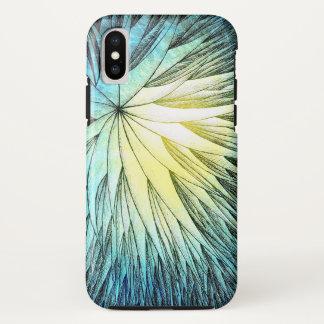 Coque iPhone X Flower4 abstraits - Cas de l'iPhone X d'Apple