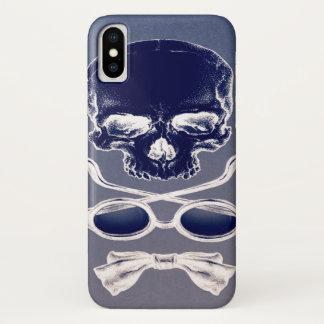 Coque iPhone X Forme négative de la mort de crâne périodique