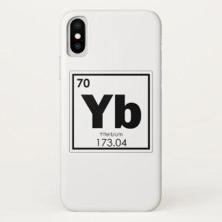 Coque iPhone X Formul de chimie de symbole d'élément chimique de