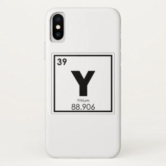 Coque iPhone X Formule de chimie de symbole d'élément chimique de