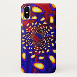 Coque iPhone X Fractale en verre fondue psychédélique de