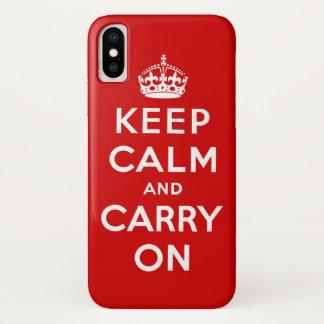 Coque iPhone X gardez le calme et continuez
