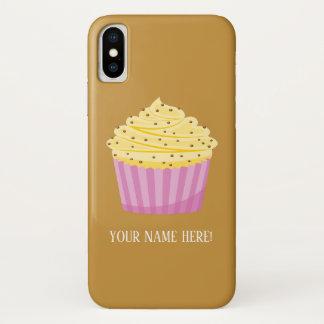 Coque iPhone X Gâteau et coeurs de tasse